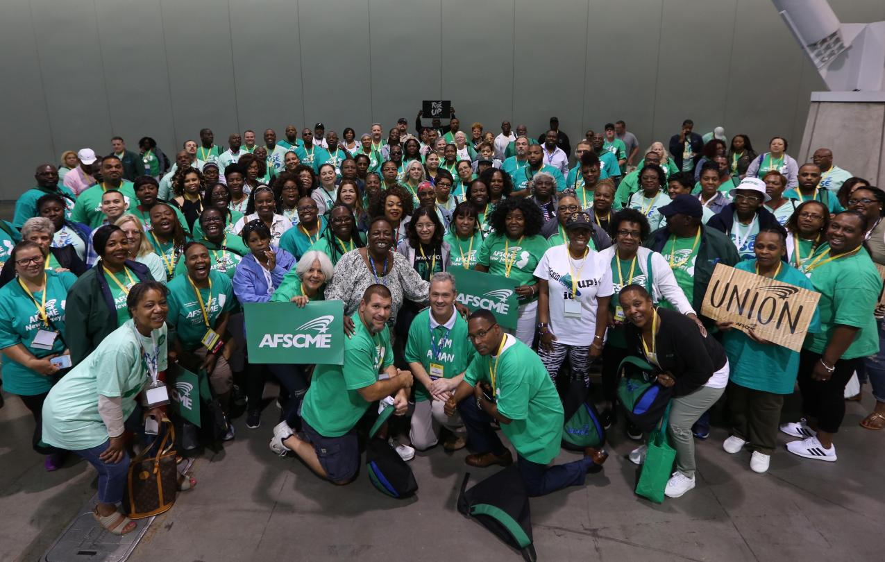 AFSCME NJ members at the 2018 AFSCME Convention